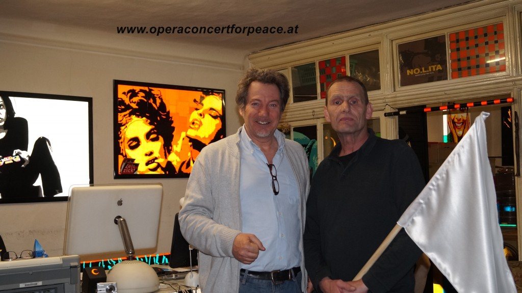 links: Hubert Paul Kuchar mit Michael(Michi) Klebinger