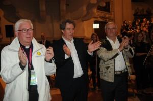 Erzbischof Franz Lackner, Hubert Paul Kuchar, Christan Wehrschütz, 2.10.2015, Opera Concert for Peace, Dom, Salzburg, © Manfred Siebinger