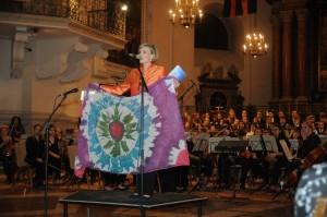 2.10.2015, Romy Seidl, Moderatorin, Opera Concert for Peace, Dom, Salzburg, © Manfred Siebinger